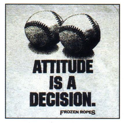 Attitude versus Aptitude